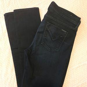 Hudson Shine Midrise Skinny Jeans (Dark Navy)